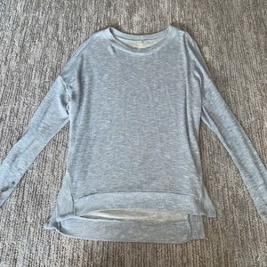 Light blue and gold sweater